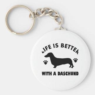 daschund dog design keychain