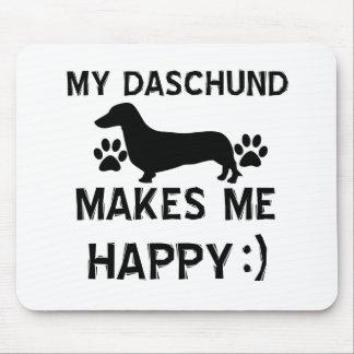 Daschund dog designs mouse pad