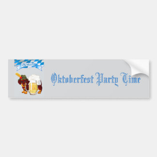 Daschund Oktoberfest Car Bumper Sticker