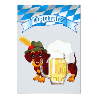 Daschund Oktoberfest Card