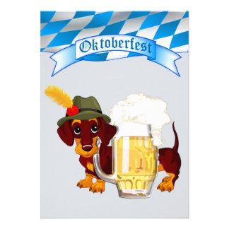 Daschund Oktoberfest Personalized Invite