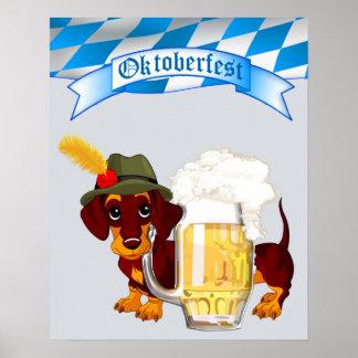 Daschund Oktoberfest Poster