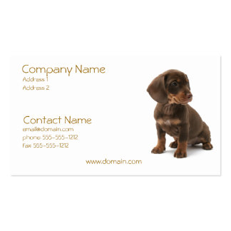 Daschund Puppy Business Card