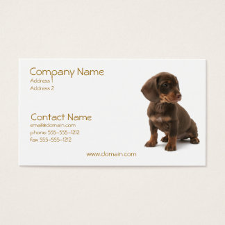 Daschund Puppy Business Card
