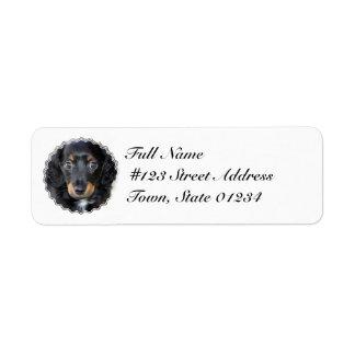 Daschund Puppy Dog Return Address Label