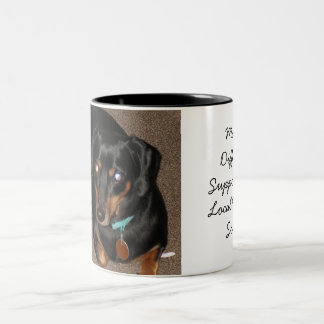 Daschund, Support local humane society Two-Tone Coffee Mug