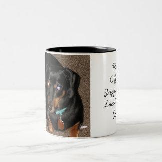 Daschund, Support local humane society Two-Tone Coffee Mug