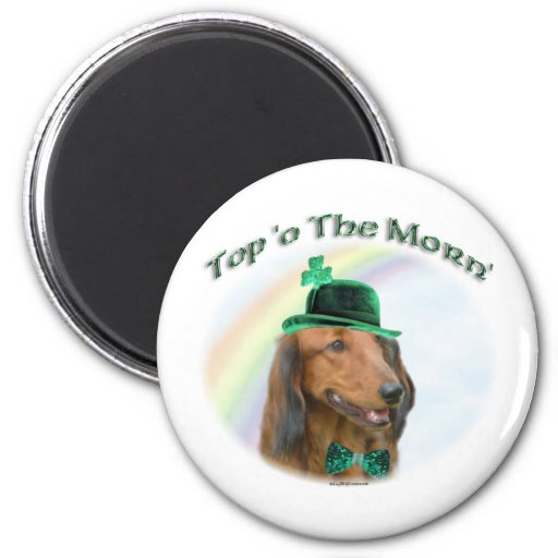Daschund Top of the Morn Magnet