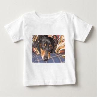 Daschund Weener Dog face Baby T-Shirt