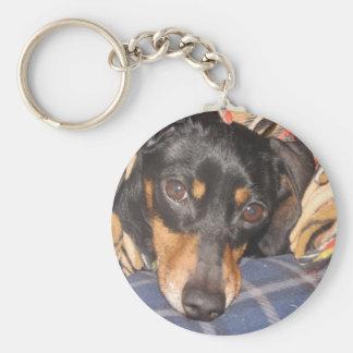 Daschund Weener Dog face Keychain