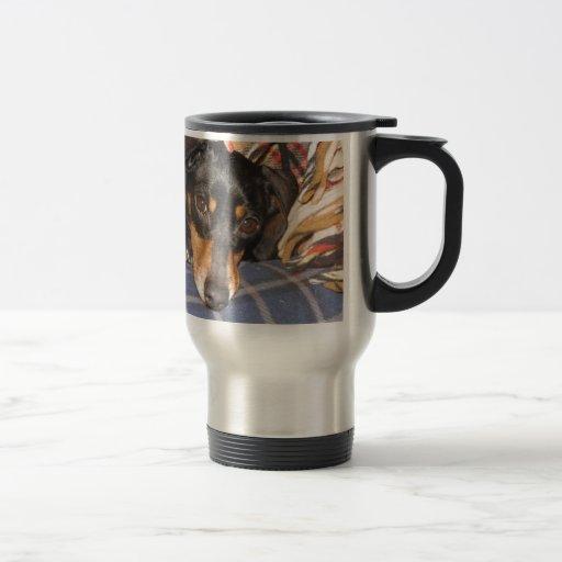 Daschund Weener Dog face Mug