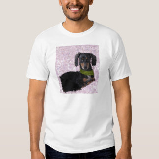 Daschund Wiener dog pink green fantasy T Shirt