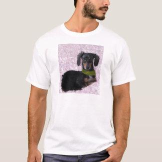 Daschund Wiener dog pink green fantasy T-Shirt
