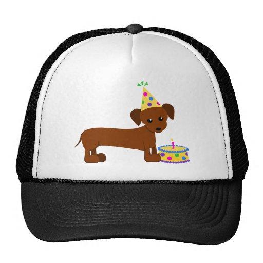 DaschundBDay Trucker Hat