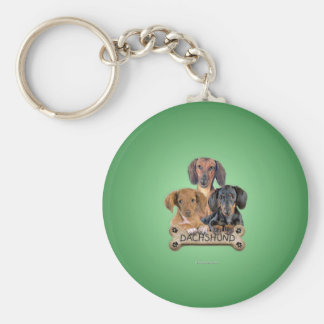daschunds_rnd_ornament keychain