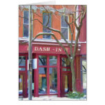 Dash-In restaurant in winter, Fort Wayne, Indiana Greeting Card