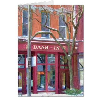 Dash-In restaurant in winter, Fort Wayne, Indiana Card