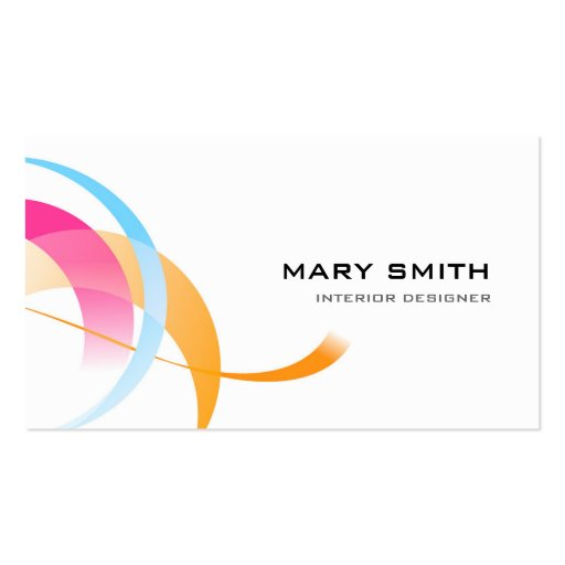 Dash of Color Business Card Two Sided