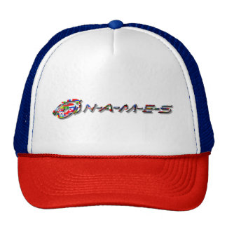 """""""Dash Series"""" Trucker Hat World Flag"""