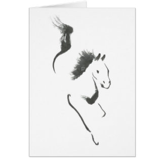 Dash to Safety, Sumi-e Year of the Horse Cards