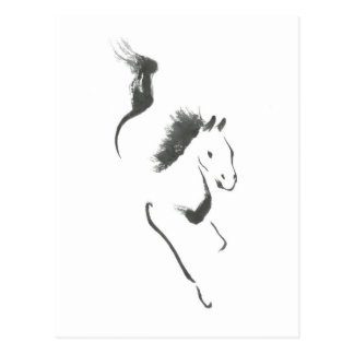 Dash to Safety, Sumi-e Year of the Horse Postcard