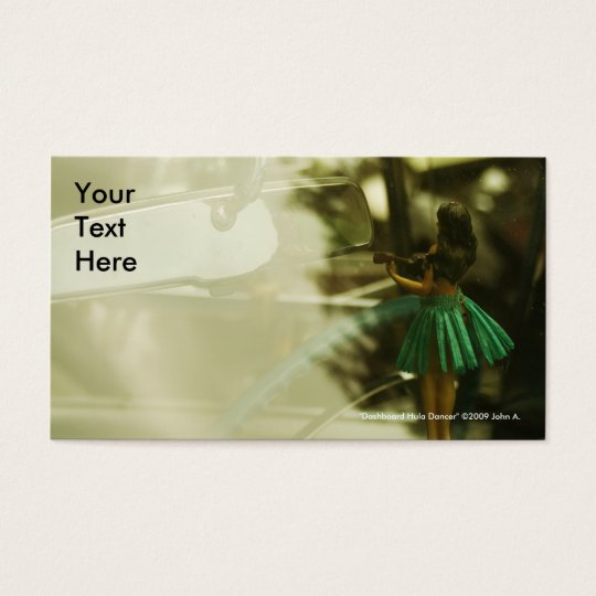 Dashboard Hula Dancer Business Card