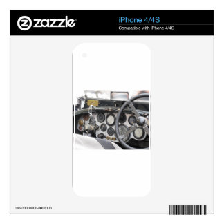 Dashboard of british classic sport car decal for the iPhone 4S