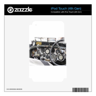 Dashboard of british classic sport car iPod touch 4G skins