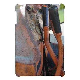 Dashboard of old italian crawler tractor iPad mini cases
