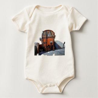 Dashboard old italian crawler tractor baby bodysuit