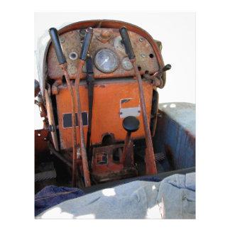 Dashboard old italian crawler tractor letterhead