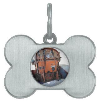 Dashboard old italian crawler tractor pet ID tag