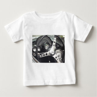 Dashboard View of a classic corvette steering whee Baby T-Shirt