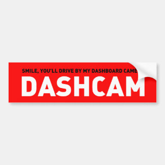 Dashcam Bumper Sticker