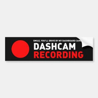 Dashcam Recording Car Bumper Sticker