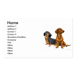 Dashchunds Profile Card Double-Sided Standard Business Cards (Pack Of 100)