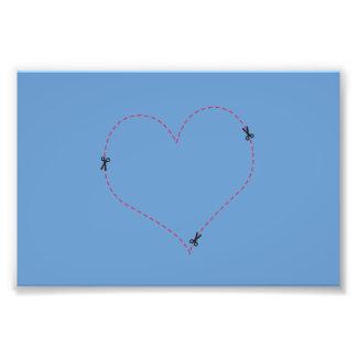 Dashed Heart Art Photo