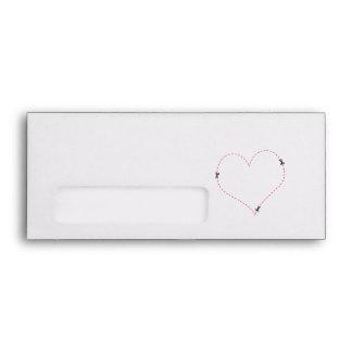Dashed Heart Envelopes