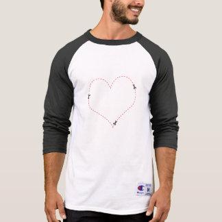 Dashed Heart Tshirts