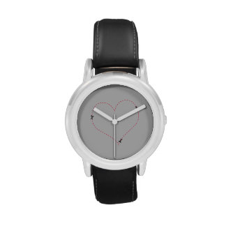 Dashed Heart Wrist Watches