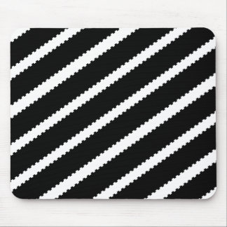 Dashed Puzzle Stripes Mouse Pad