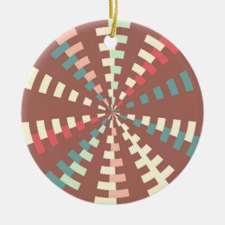 Dashed vortex ceramic ornament