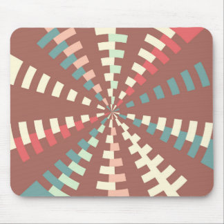 Dashed vortex mouse pad