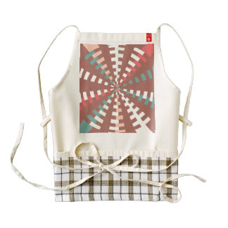 Dashed vortex zazzle HEART apron