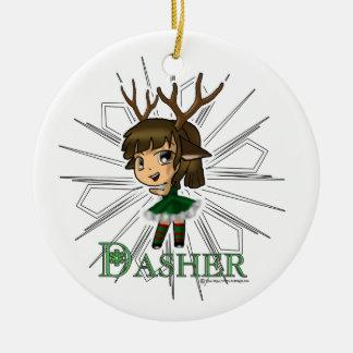 Dasher Christmas Tree Ornament
