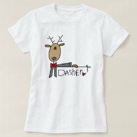 Dasher Reindeer Christmas T-shirts and Gifts