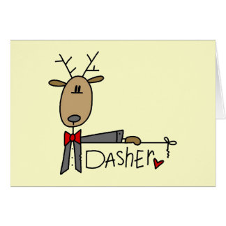 Dasher Reindeer Christmas T-shirts and Gifts Card