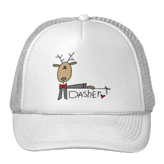 Dasher Reindeer Christmas T-shirts and Gifts Trucker Hat