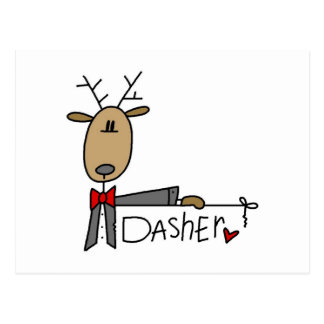 Dasher Reindeer Christmas T-shirts and Gifts Postcard