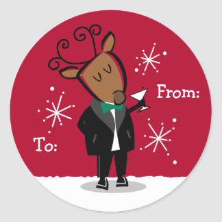 Dasher Reindeer Custom Gift Tags